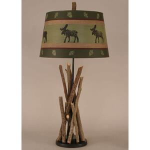 Stick Table Lamp With Black Base