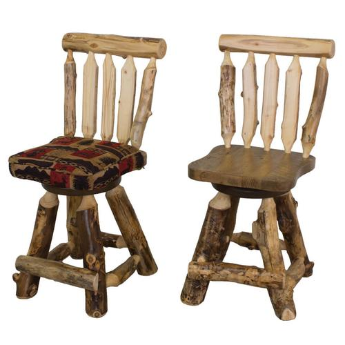 """Best Craft Furniture - A320 24"""" Swivel Counterstool with Back & Upholstered Seat"""