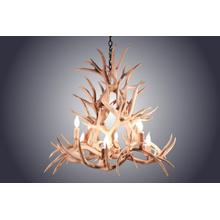 REAL 8 Light Magnolia Mule Deer Antler Chandelier