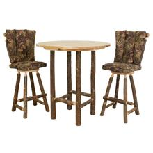 "Hickory 30"" Swivel Barstool with Back and Upholstered Seat"