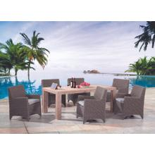 Reims Outdoor Dining Table and 6 Chairs