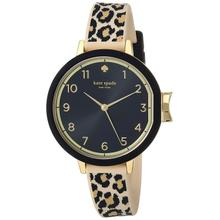 See Details - KATE SPADE PARK ROW WATCH - Leopard print strap
