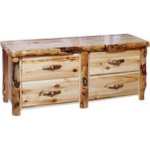 4 Drawer Dresser Flat Front Wild Panel Gnarly Log