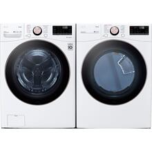 LG Ultra Large Capacity Front Load Washer & Dryer Pair - White