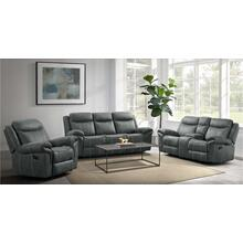 UNITED 59928-038-1X 59928-028-1X 59928-095-1X Sorrento Charcoal Reclining Sofa, Reclining Glider Loveseat & Glider Recliner Group