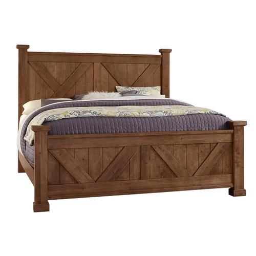 Vaughan-Bassett - King Cool Rustic X Bed - Amber Finish