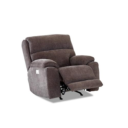 Omaha Power Rocker Recliner in Victory Sterling Fabric