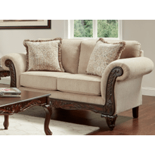 EMMA WHEAT LOVESEAT  (8552)