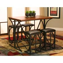 T2075-75  PUB TABLE W/4 BAR STOOLS