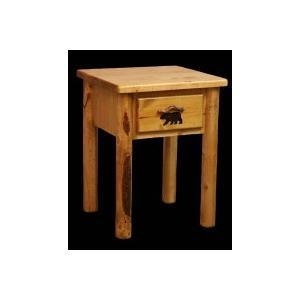 One Drawer Ponderosa Pine Nightstand