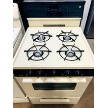 USED- 24 in. Freestanding Gas Range in Biscuit- G24BISTV-U SERIAL #1