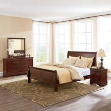 View Product - Alisdair - Dark Brown 4 Piece Bed Set (Queen)