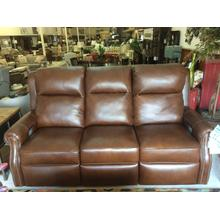 COMFORT DESIGN Leather Power Reclining Sofa w/Power Headrest & Lumbar