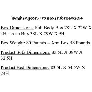 Mattress Discount Southgate - Washington Rustic Walnut Futon Frame