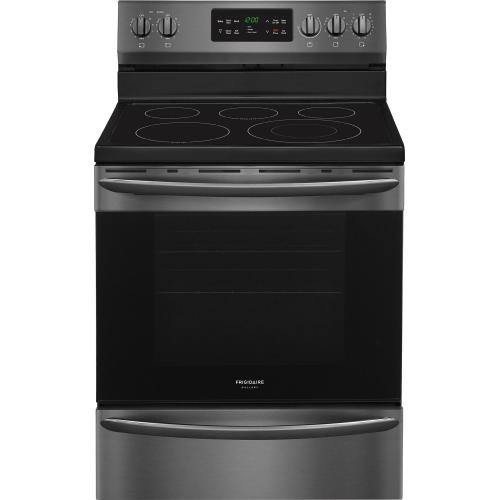 Frigidaire Gallery 30 Inch Freestanding Electric Range in Black Stainless Steel