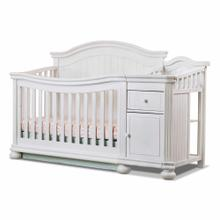 Finley 4-in-1 Convertible Crib and Changer in White
