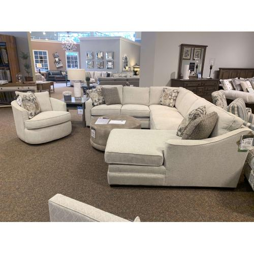 C9 Customizable Sectional with Chaise and Matching Chair