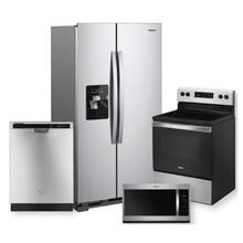 WHIRLPOOL Stainless Steel Side-by-Side Refrigerator Package **Colorado Exclusive**