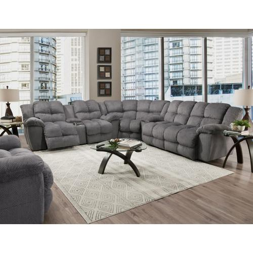 Franklin Furniture - FRANKLIN 31443-3964-04-31434-31499 3-Piece Thatcher Pewter Reclining Sectional Sofa