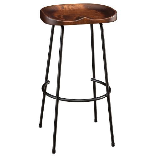 Amish Furniture - Wood and Metal Bar Stool
