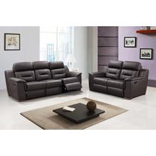 See Details - 9408 - Brown Leather Gel - 2-Piece Sofa and Loveseat