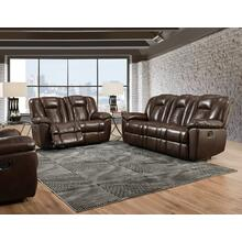Liza Chocolate Dual Reclining Loveseat
