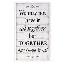 TY Songbird Inspirational Wall Decors - We may not have it all together