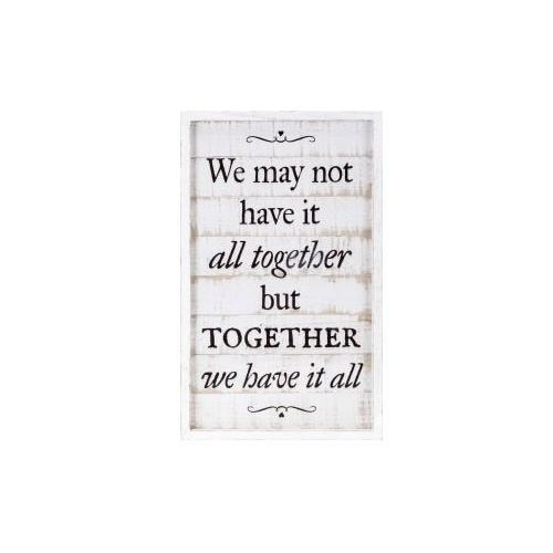Imax Corporation - TY Songbird Inspirational Wall Decors - We may not have it all together