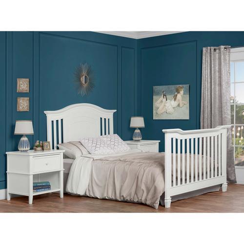 Evolur Fairbanks 5 in 1 Convertible Crib- White