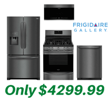 See Details - Frigidaire Gallery Black Stainless Kitchen Suite with Air Fry Convection Stove