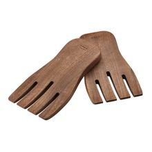 Rosle Walnut Wood Salad Mixing Hands, 2 Pieces