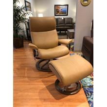 See Details - Stressless Aura Large Chair and Ottoman