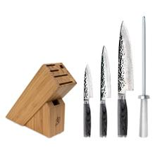 Shun Premier Grey Damascus Steel 5-Piece Knife Block Set