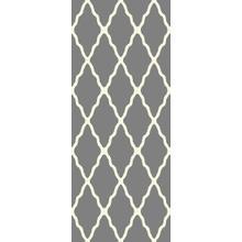 Deluxe Shag Trellis Silver 8x11 Rug
