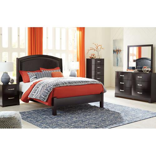 Minota - Merlot 5 Piece Bedroom Set