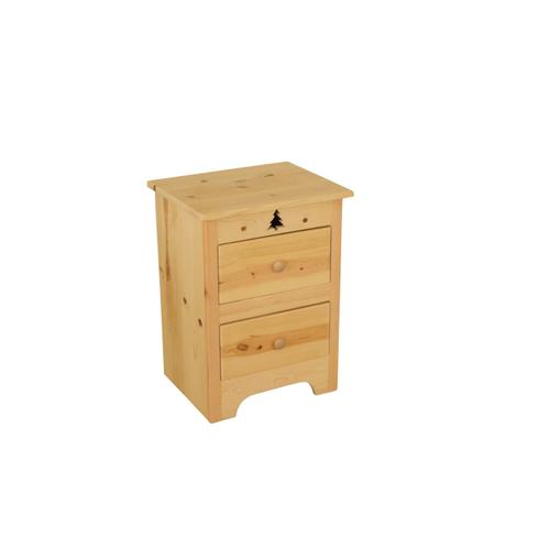 BW530  2-Drawer Nightstand with Tree Cutout