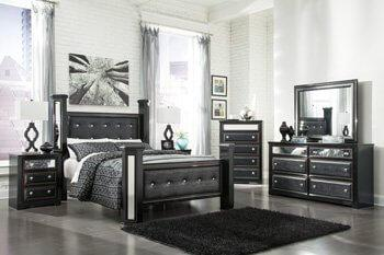 B364 Bedroom Set - Queen Bed, Nightstand, Dresser& Mirror, Chest of drawers