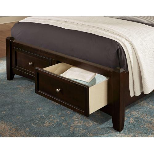 Queen Merlot Mansion Storage Bed