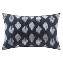 Product Image - Nadia Dot Embroidered Navy Oblong Pillow