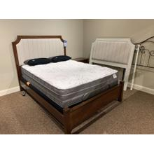 Pinstripe Upholstered Bed (Available in Multiple Colors)