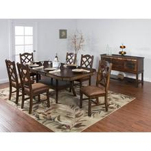 Santa Fe Dual Height Dining Table and 4 Stools
