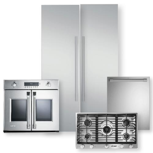 Stainless Steel 24-Inch Integrated Column Refrigerator & Freezer 5-Piece Package- Open Box