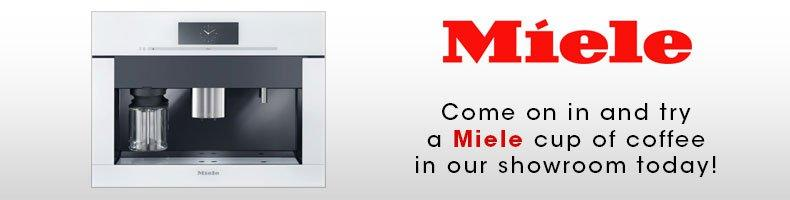 Miele - Come on in and try a Miele cup of coffee in our showroom today!