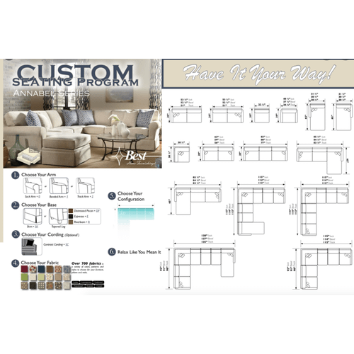 ANNABEL SECTIONAL  Customize Your Seating!