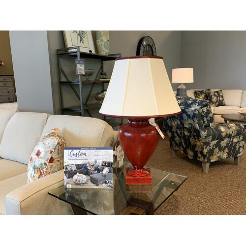 Red Glossy Table Lamp