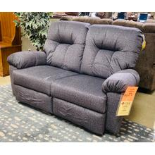ARES SPACE SAVER Reclining Loveseat in Slate        (L350RA4-20823,28041)