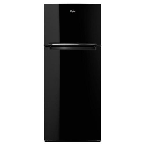 Whirlpool 18CF Black Top Freezer Refrigerator