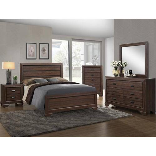 Farrow Kg Bed, Dresser, Mirror, Chest and Nightstand