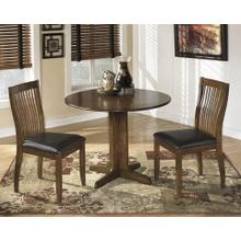 3 pc. Dinette Set w/ Round Drop Leaf Table