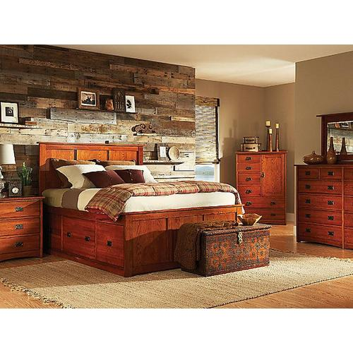 Witmer Furniture - American Mission Storage Bed in Color #80